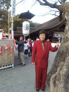 好天の国府宮神社