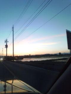西尾張の夕焼け