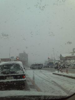 まだ大雪でした…