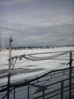 近江平野は雪